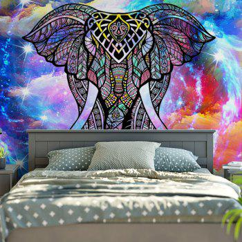 Wall Hanging Star Sky Elephant Pattern Tapestry - W59 INCH * L59 INCH W59 INCH * L59 INCH
