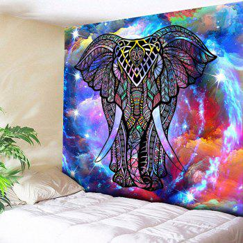 Wall Hanging Star Sky Elephant Pattern Tapestry