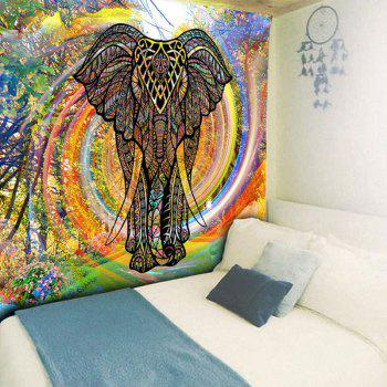 Wall Hanging Whirlwind Rainbow Elephant Tapestry - COLORFUL COLORFUL