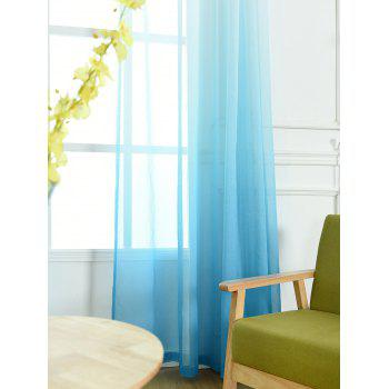 Ombre Sheer Tulle Curtain Decorative Window Screen - BLUE W42*L63INCH