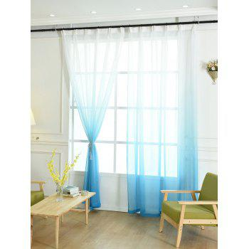 Ombre Sheer Tulle Curtain Decorative Window Screen - BLUE W42*L84INCH