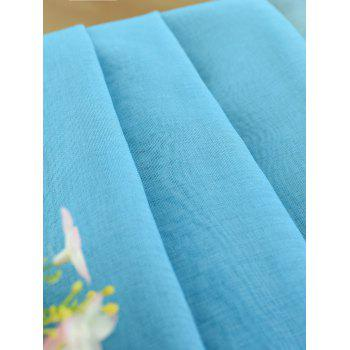 Ombre Sheer Tulle Curtain Decorative Window Screen - BLUE BLUE