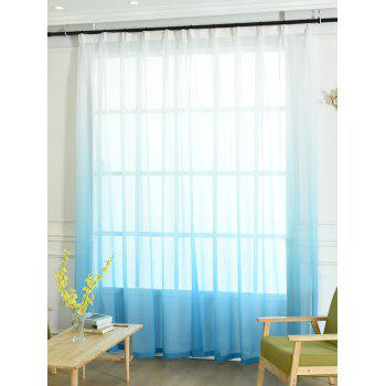 Ombre Sheer Tulle Curtain Decorative Window Screen - BLUE W54*L108INCH