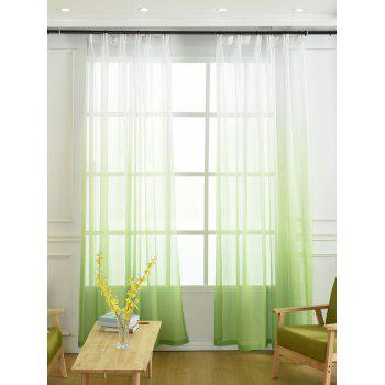 Ombre Sheer Tulle Curtain Decorative Window Screen - GREEN W42*L63INCH
