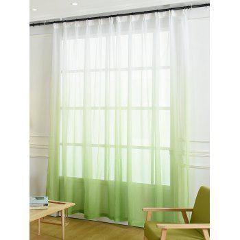 Ombre Sheer Tulle Curtain Decorative Window Screen - GREEN W42*L84INCH