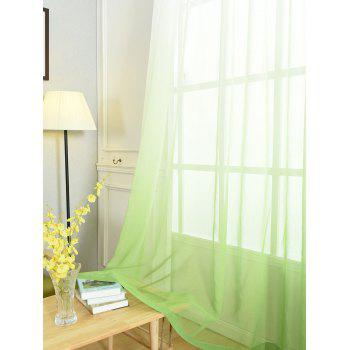 Ombre Sheer Tulle Curtain Decorative Window Screen - GREEN W54*L95INCH