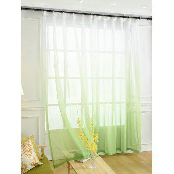 Ombre Sheer Tulle Curtain Decorative Window Screen - GREEN GREEN