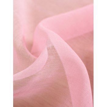 Ombre Sheer Tulle Curtain Decorative Window Screen - PINK W42*L63INCH