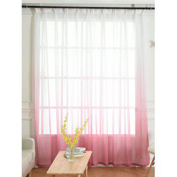 Ombre Sheer Tulle Curtain Decorative Window Screen - PINK PINK