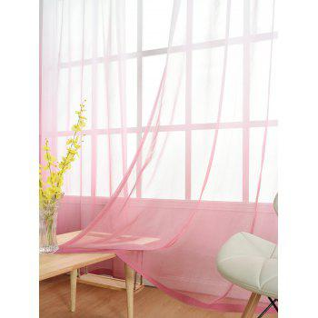 Ombre Sheer Tulle Curtain Decorative Window Screen - PINK W54*L84INCH