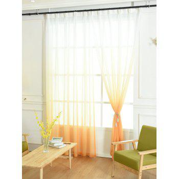Ombre Sheer Tulle Curtain Decorative Window Screen - W42*L84INCH W42*L84INCH