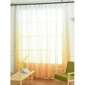 Ombre Sheer Tulle Curtain Decorative Window Screen - ORANGE W42*L84INCH