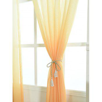 Ombre Sheer Tulle Curtain Decorative Window Screen - ORANGE ORANGE