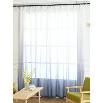 Ombre Sheer Tulle Curtain Decorative Window Screen - BLUE GRAY W54*L84INCH