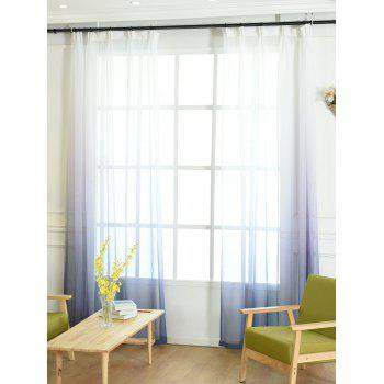 Ombre Sheer Tulle Curtain Decorative Window Screen - BLUE GRAY W54*L108INCH