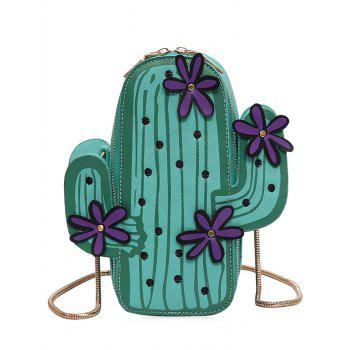 Snake Chain Cactus Shaped Crossbody Bag