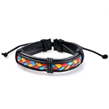 Multicolor Woven Faux Leather Beaded Friendship Bracelets -  COLORMIX