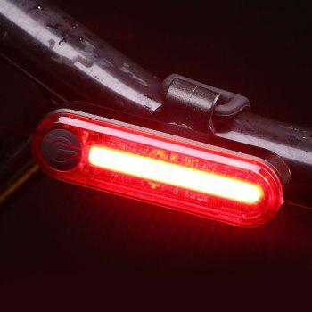 Outdoor Sport USB Charging Clip On Cycling Light -  RED