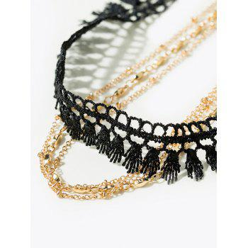 Vintage Tassel Chain Choker Necklace -  GOLDEN