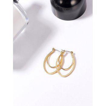 Double Oval Hoop Earrings - GOLDEN