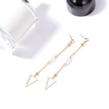 Triangle Drop Chain Earrings - GOLDEN