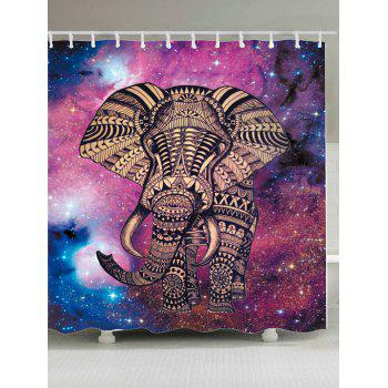 Elephant Night Sky Waterproof Shower Curtain