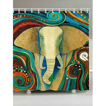 Tribe Elephant Waterproof Shower Curtain