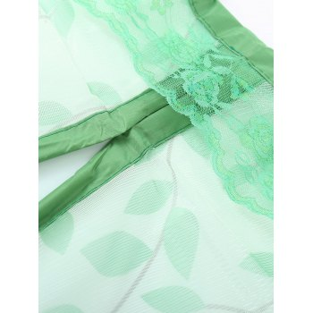Anti Mosquito Monkey Pattern Mesh Net Magnetic Curtain - Vert 100*210CM