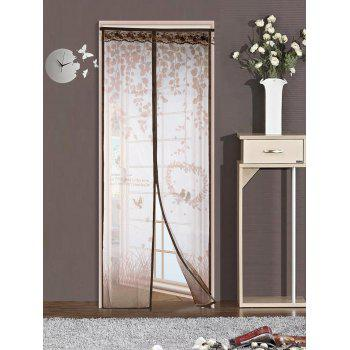 Self-Closing Anti Insects Mesh Door Screen Magnetic Curtain - COFFEE 90*210CM