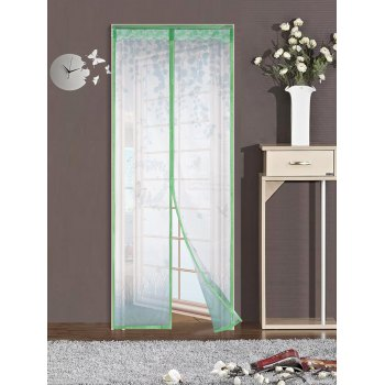 Self-Closing Anti Insects Mesh Door Screen Magnetic Curtain - GREEN 90*210CM