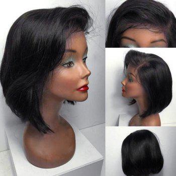 Short Side Part Straight Bob Human Hair Lace Front Wig
