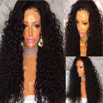Long Side Part Shaggy Curly Human Hair Lace Front Wig