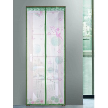 Breathable Anti Insects Mesh Door Screen Magnetic Curtain - GREEN GREEN