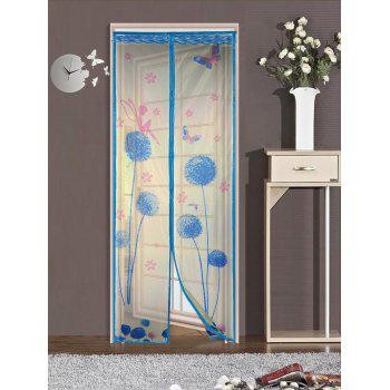 Breathable Anti Insects Mesh Door Screen Magnetic Curtain - LAKE BLUE 90*210CM