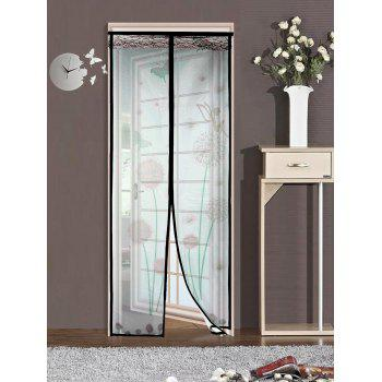 Dandelion Door Screen Insect Stopping Net Magnetic Curtain - COFFEE 90*210CM