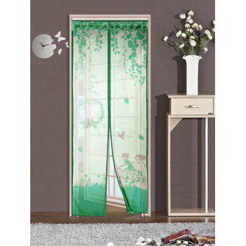 Mesh Anti Mosquito Magnetic Tulle Door Screen Curtain - GREEN 100*210CM