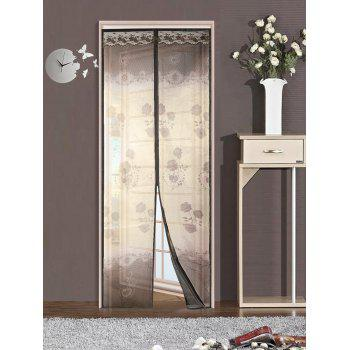 Summer Tulle Anti-mosquito Net Magnetic Door Curtain - COFFEE 100*210CM