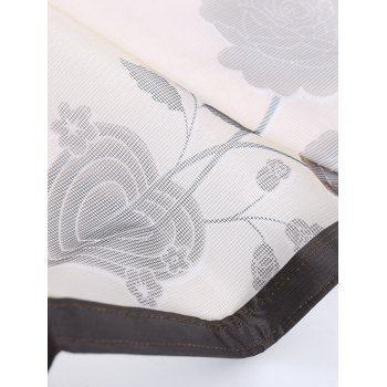 Summer Tulle Anti-mosquito Net Magnetic Door Curtain - COFFEE COFFEE