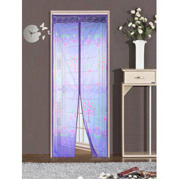 Anti Insects Magnetic Self-Closed Mesh Door Curtain - PURPLE 90*210CM