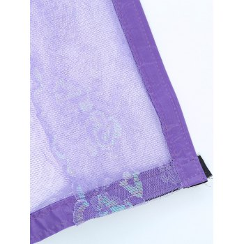 Anti Insects Magnetic Self-Closed Mesh Door Curtain - PURPLE PURPLE