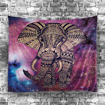 Elephant Night Sky Print Wall Tapestry - COLORFUL W59 INCH * L79 INCH