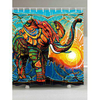 Elephant Sunlight Waterproof Shower Curtain