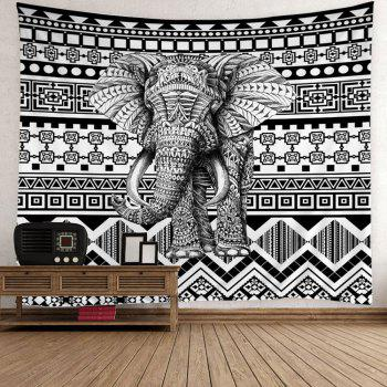Elephant Geometric Wall Hanging Tapestry