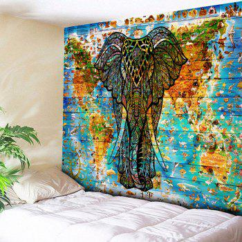 Wall Hanging World Map Elephant Tapestry