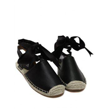 Espadrilles Flat Heel Tie Up Sandals