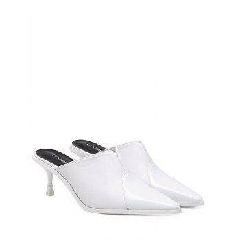 Pointed Toe PU Leather Slippers