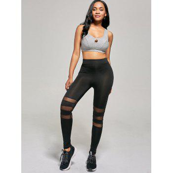 Mesh Panel Tight Leggings - S S