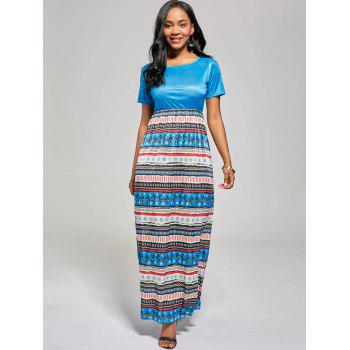 A Line Floor Length Boho Dress - S S