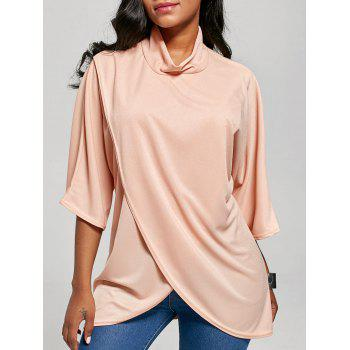 Cowl Neck Oversized Wrapped Top