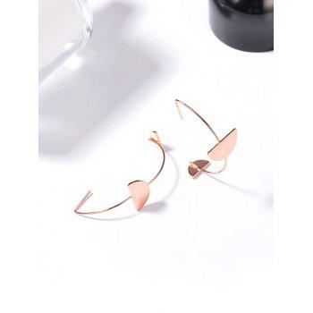 Statement Half Round Hook Earrings - ROSE GOLD